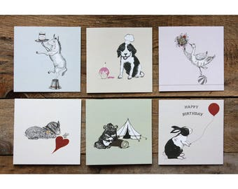 Animal Greeting Cards|Cards Pack|Cards set|Quirky Cards|greetings cards pack