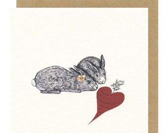 Love Bunnies | Anniversary card | Bunny Card