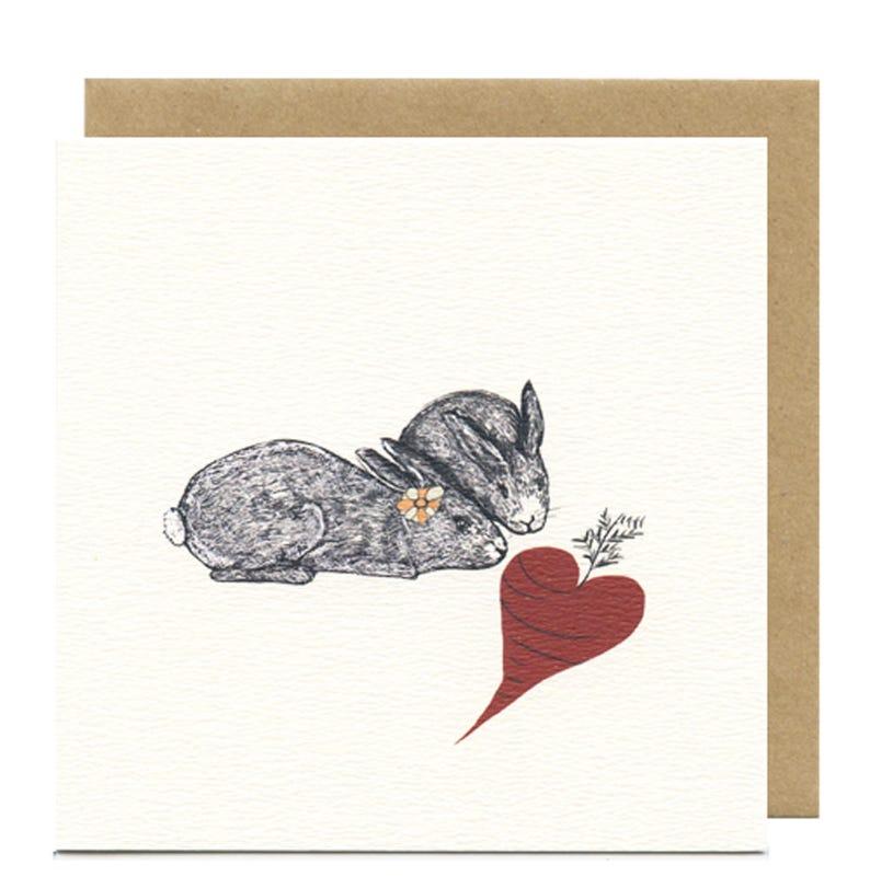 Love Bunnies  Anniversary card  Bunny Card image 0