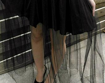 Black tulle skirt, skirt Gothic skirt witch, witch, Gothic wedding, bridesmaid, tulle, black skirt, black, goth skirt skirt