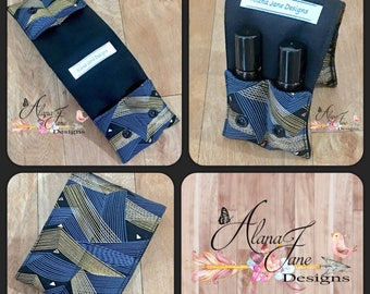 Essential Oil Wallet for Roller Bottles, Cotton Fabric Holds up to 4 Roller Bottles or Similar Size Bottles, Perfect for Your Bag or Purse