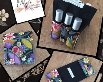 Essential Oil Wallet for Roller Bottles, Oriental Floral Cotton Fabric Holds up to 6 Roller Bottles or Similar Size Bottles, Perfect for You