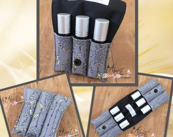 Essential Oil Wallet for Roller Bottles, Dreamcatcher Cotton Fabric Holds up to 6 Roller Bottles or Similar Size Bottles, Perfect for Your B