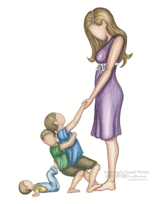 Valentines Day Gift Mom With Three Sons Boy Mom Etsy