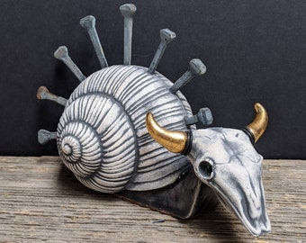 Nail Snail -One of a Kind Sculpture-