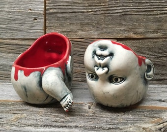 Small Decapitated Baby Head Mug — Customizable