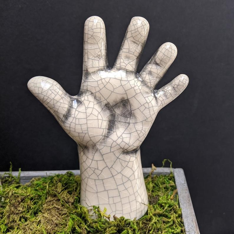 Hand Garden Stakes Ghost WHITE