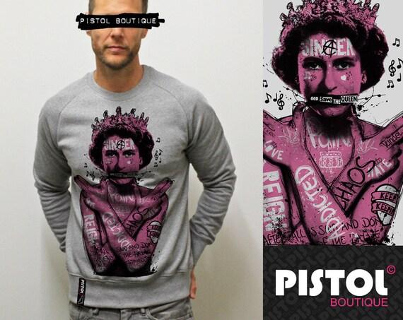 Pistol Boutique Men/'s GRAFFITI TATTOOS GIRL White Standard Fit Classic Crew Neck Fashion Sweatshirt  Jumper