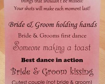 I Spy Wedding Camera Cards - Tall - Dusky Pink KP032 DP/WT