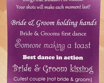 I Spy Wedding Camera Cards - Tall - Purple KP032 PR/WT