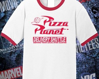 Pizza Planet High Quality Ringer Tee - Toy Story Shirt