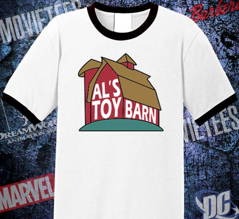 22cfafc0c02 Al s Toy Barn High Quality Ringer Tee Toy Story Shirt