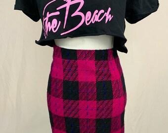068ae02c6be4 Pink on Pink high waist Tweed Skirt