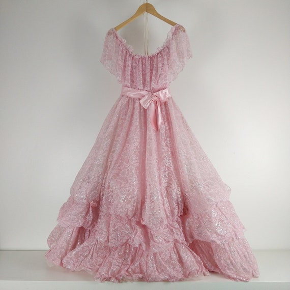 Pink 1980's Princess Prom Gown