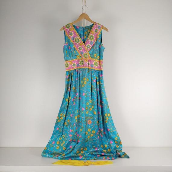 Flower Power Vintage Hippy 60's Dress