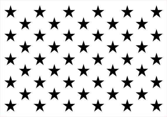 """1.10/"""" STAR /""""50 STARS/"""" STENCIL PATRIOTIC PAINT CRAFT TEMPLATE ART NEW 9/"""" x 12/"""""""