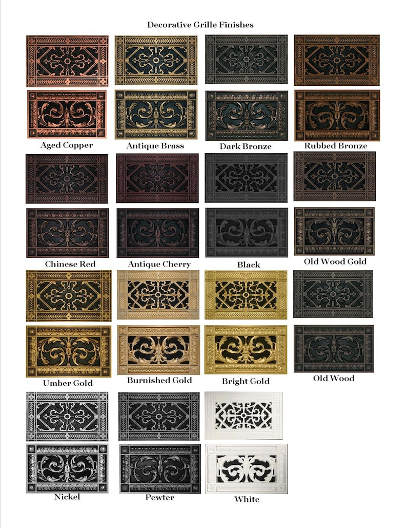 Decorative Vent Cover Grille Arts and Crafts Style #RR-209-16×20