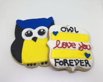 Owl love you forever Cookies Dozen