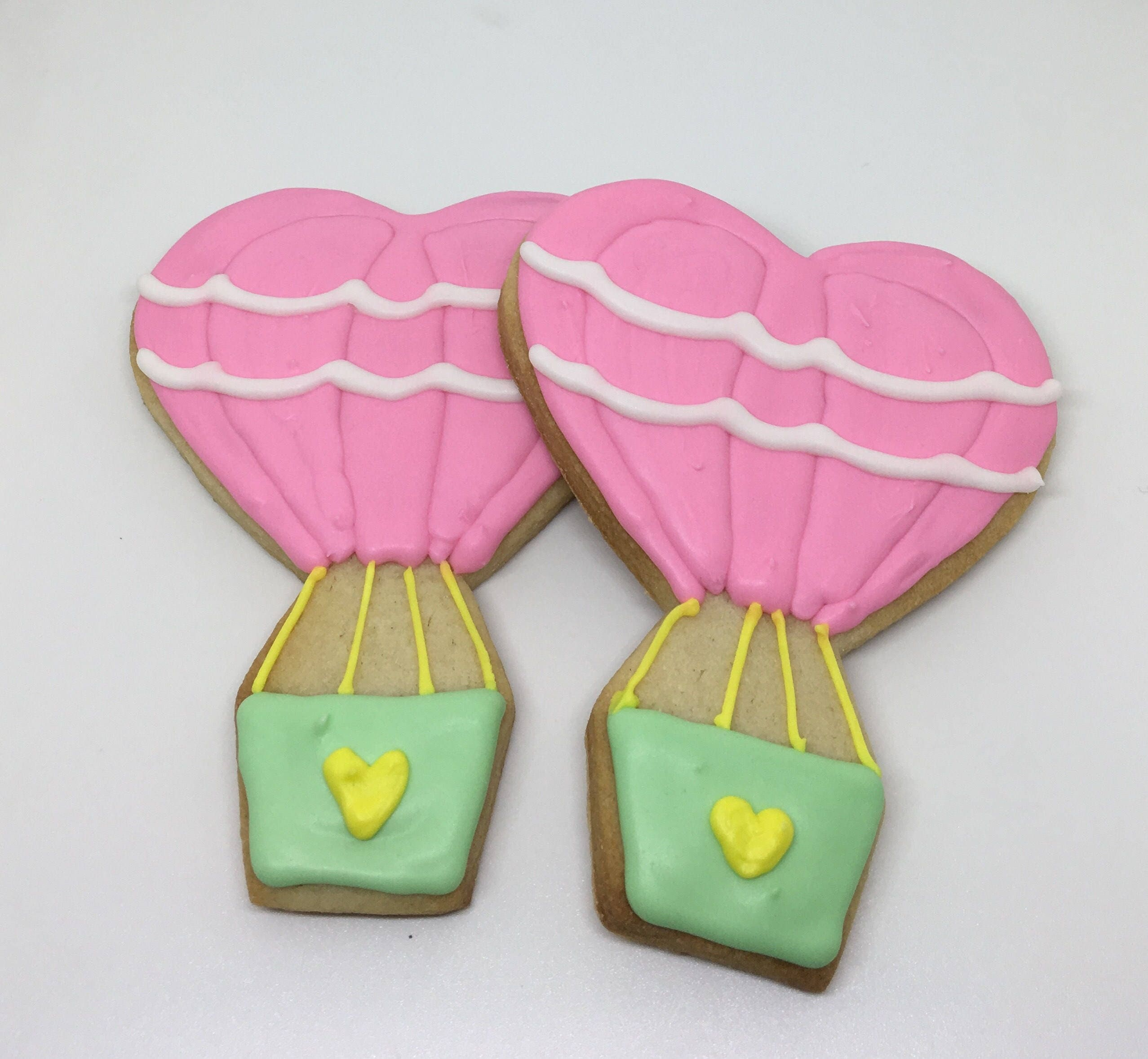 Heart Air Balloon Cookies Dozen