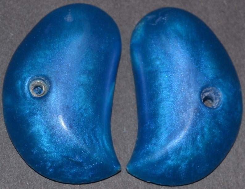 Derringer cobra standard pistol grips sapphire blue off center hole
