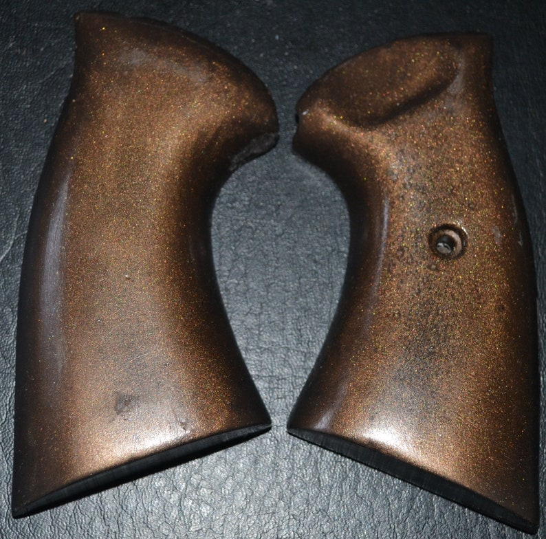 Charter Arms Bulldog pistol grips dark brown plastic with screw