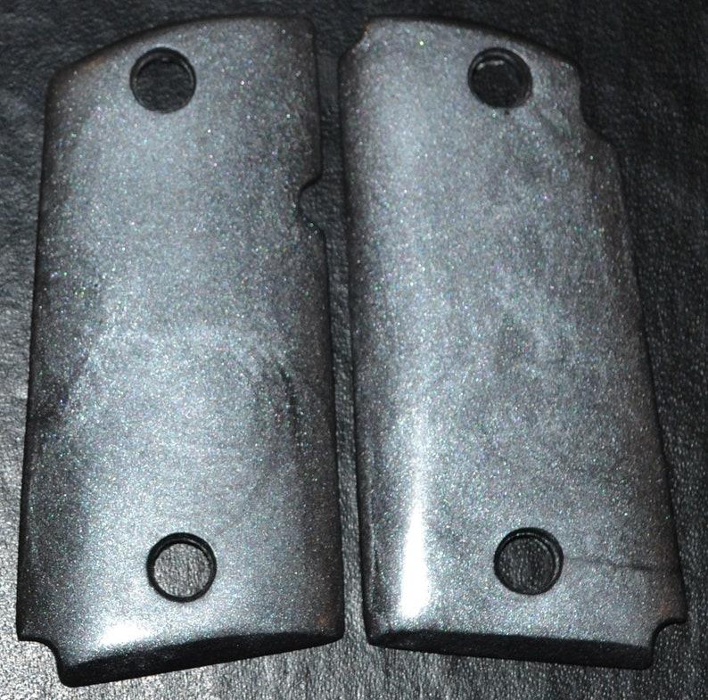 Kimber micro 9 pistol grips silver plastic