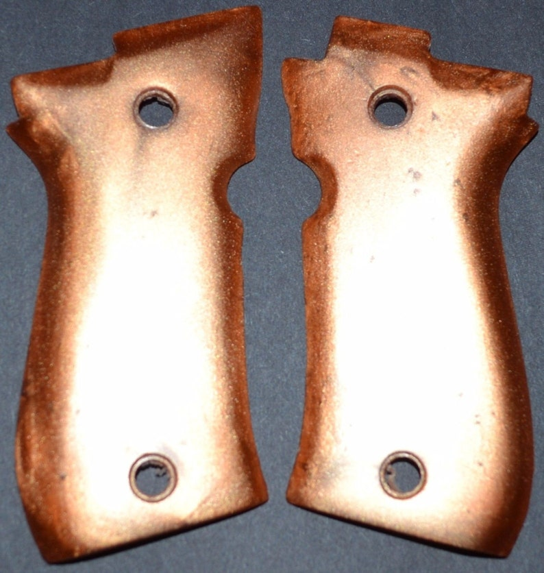 Beretta 84 pistol grips super bronze plastic
