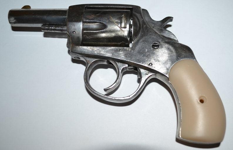 American Bulldog Pistol Grips Antique Ivory Plastic With Screw Etsy