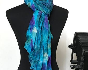 Prophetic - Silk Scarf - Gifts for Women - Dyed Silk - Christian Gifts - Crinkle Silk called His Pleasure