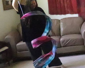 Prophetic - Silk Flag - Worship Flag - Praise Dance - Dyed Silk - 4 yard Streamer* called Provision and Favor