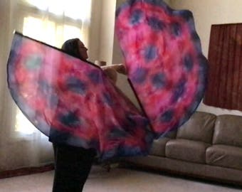 Prophetic - Silk Flag - Worship Flag - Praise Dance - Dyed Silk - Prophetically Hand-Dyed Regular Spin Wings called Covenant of Trust