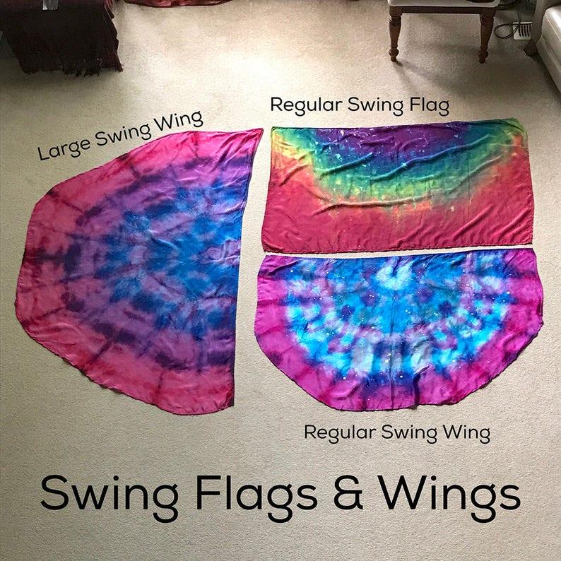 Prophetic  Silk Flag  Worship Flag  Praise Dance  Dyed image 0