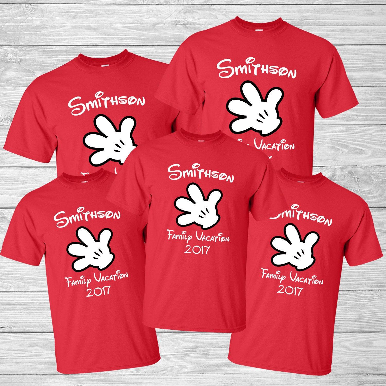 Mickey Glove Disney Matching T Shirts Custom Disney World ...