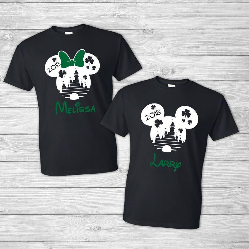 b8654d62a St Patricks Day Disney Family Shirts Green Shamrock | Etsy