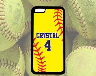 Softball Phone Case, iPhone 5/5s, iPhone 5c, Softball Gift,iPhone 6/6s, iPhone 6+/6s+, Samsung Galaxy S3, S4, S5, S6, Note 3, Note 4, Note 5