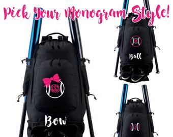 Embroidered Monogram Expandable Bat Bag, Baseball Bag, Softball Gift, Softball Bag, Bat bag, Softball Bat Bag, Softball, Baseball