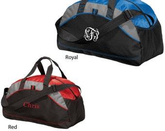 Embroidered Monogram Duffle Bag, Monogram Duffle Bag, Embroidered Duffle Bag, Duffle Bag BG1070