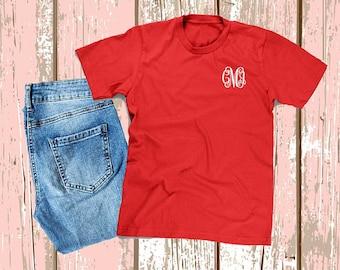 SALE!! Monogrammed Shirt, Monogram Shirt, Monogram T-Shirt, Monogram Shirt, Personalized Shirt, Monogram Tee, Monogrammed Tee, 5000G