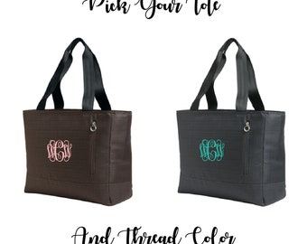 Embroidered Monogram Laptop Tote, Laptop Bag, Laptop Carrier