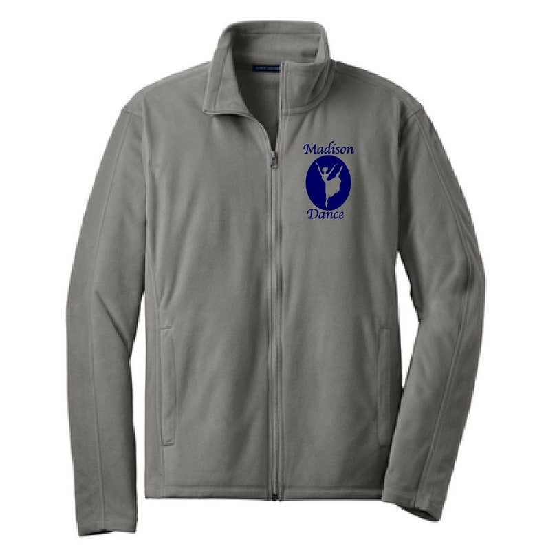 681ec2bb Dance Embroidered Adult Microfleece Jacket Name Microfleece | Etsy