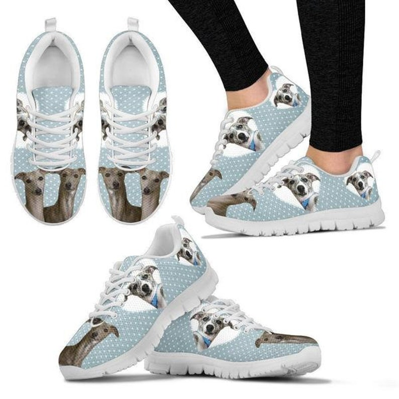 Whippet With Hearts Print Running Shoes For Women