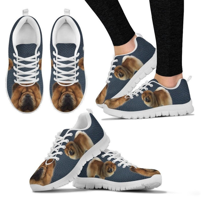 Customized Dog Print Running Shoes For Women-Express Shipping Designed By Brenda Jensen