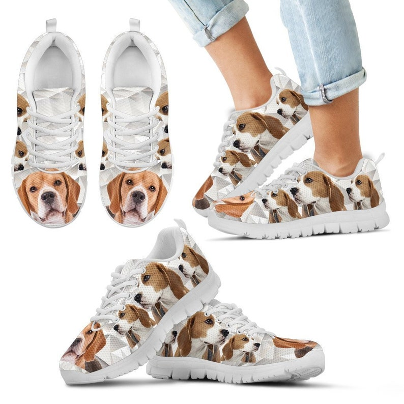 Best Friend and Print Beagle Dog-Mens Running Shoes-Casual Sneaker