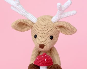 Hand-made crochet deer