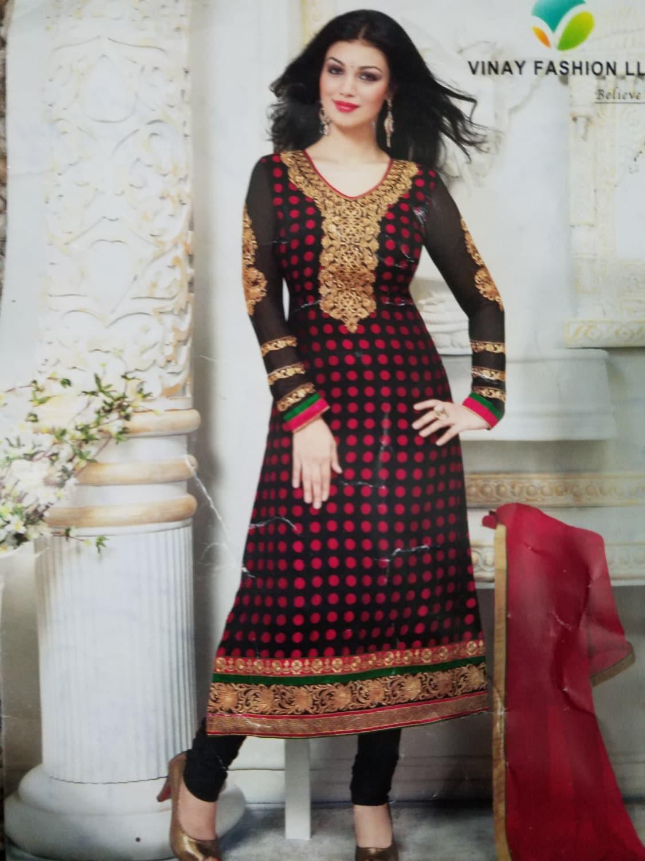 Salwar Robe Pakistanetsy Noir Indien Kameez Kupxioz Bollywood Rose rxQdCoEeWB