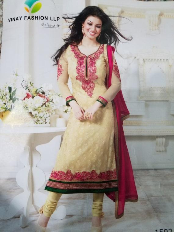 f934f604b25 Cream off white Salwar Kameez Bollywood Indian Dress Pakistan image 0 ...