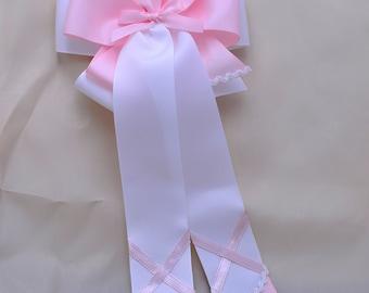 Lt. Pink Ballet Shoes Bow