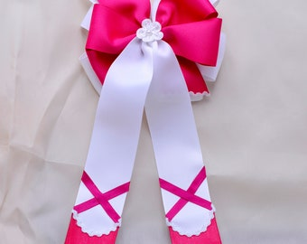 Hot Pink Ballet Shoes Bow