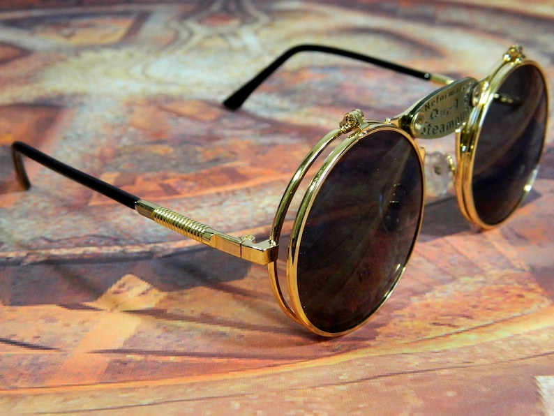 "Glasses in the steampunk style ""SHERLOCK HOLMES"""