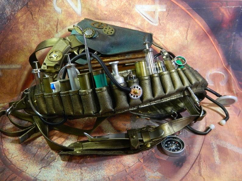 Bandolier steampunk PLAGUE DOCTOR